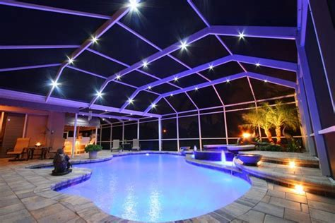 1000  images about Nebula Pool Cage Lighting on Pinterest