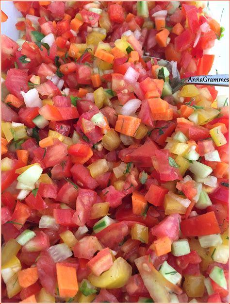 cuisine casher salade israélienne annagrammes cuisine familiale