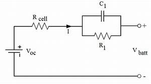 Equivalent Circuit Diagram For The Single Rc Battery Model