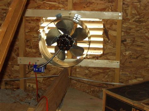 how to install an attic fan attic ventilation fans a concord carpenter
