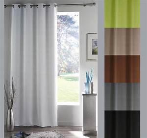 Rideau Pour Fenetre : rideau panneau pour fen tre 140 x 180 cm illets occultant discount ~ Teatrodelosmanantiales.com Idées de Décoration