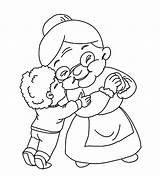 Kiss Boy Grandmother Coloring Pages Drawing Grandparents Grandma Kissing Print Colouring Grand Birthday Printable Sketch Template Painting Getdrawings Sons Getcolorings sketch template