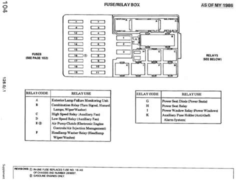 copy of fuse diagram for a 603 961 engine peachparts mercedes forum