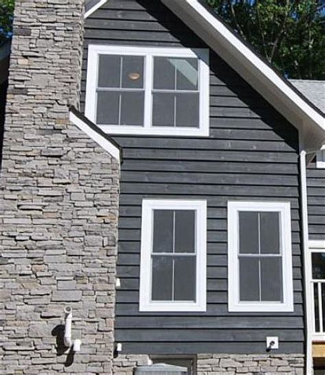 slate gray semi solid stain siding  favorite siding