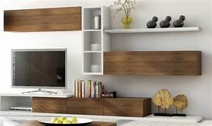 MEUBLE TV 3 TIROIRS NOTTE Mobilier Pour Salon Design En Bois