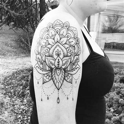 womens upper arm mandala tattoo stayglam tattoos