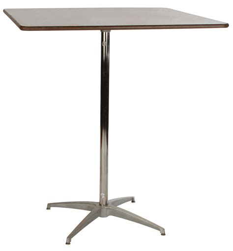 tall cocktail table  square   high rentals bright