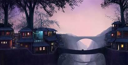 Gap Twin Cities Bridge Wallpapers Fantasy Deviantart