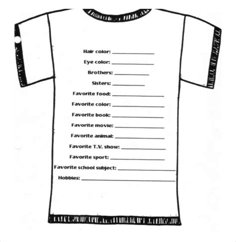Tshirt Basic Template by 26 T Shirt Order Form Templates Pdf Doc Free