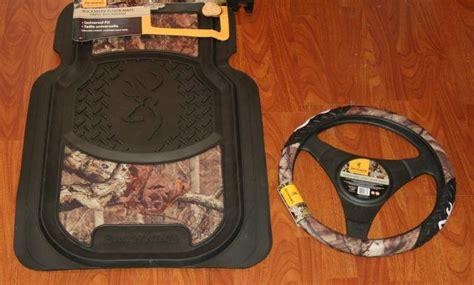 sell browning buckmark mossy oak camo floor mat set plus