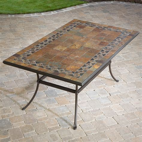 mosaic outdoor dining table
