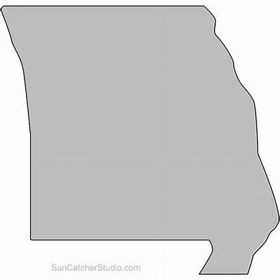 Missouri State Outline Printable Shape Map Pattern