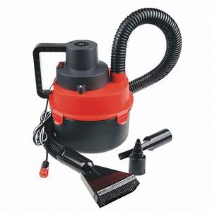 12v Portable Wet  U0026 Dry Outdoor Mini Car Boat Rv Vacuum Cleaner Inflator Pump Red 743828414351