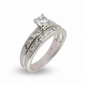 simple channel set cz wedding ring set eve39s addictionr With wedding ring sets cz