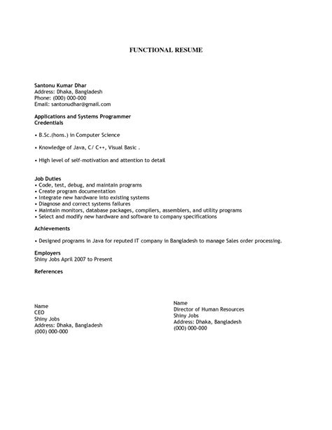 Simple Resume Format For A by Exles Of Resumes Resume Amazing Simple Objective
