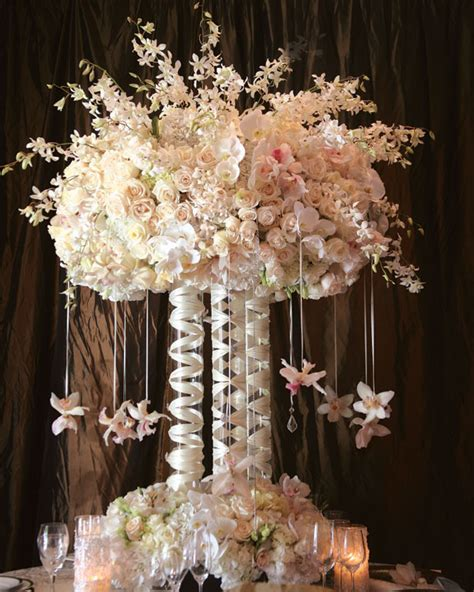faux peonies wedding wednesday elevated centerpieces flirty fleurs