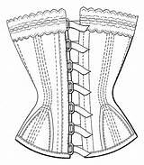 Corset Coloring Template Photoshop Body Pages Steampunk Build Own Templates Sketch sketch template