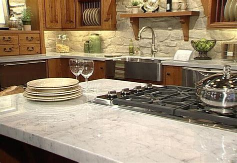 Materials For Kitchen Countertops by Granite Vs Quartz Countertop Material Comparison