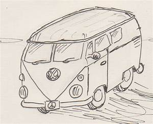 How to draw a VW Bus | bewilderedcomics