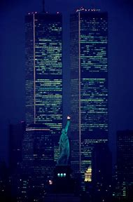 New York City Twin Towers Night