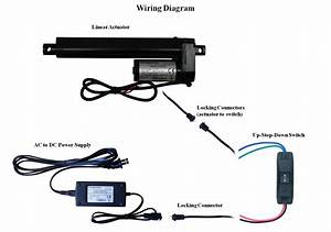 Windynation Linear Actuator 12 Volt 12v 225 Pounds Lbs