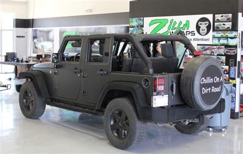 matte black jeep matte black wrap jeep wrangler zilla wraps