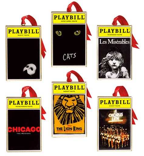 playbill ornaments   broadway cares classic