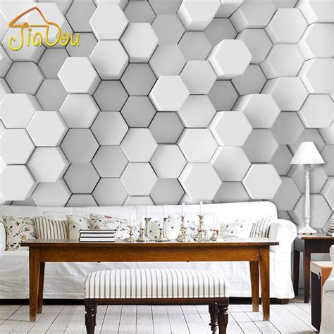 3d Wallpapers For Walls by Custom Photo Wall Paper 3d Stereoscopic Geometric