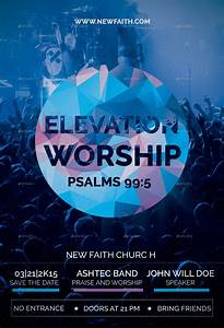 Easy Cover Letters Elevation Worship Church Flyer By Reindesignstudio