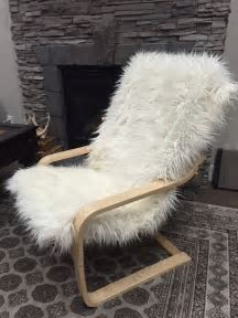 Chairs: Cute Sheepskin Chair For Remarkable Home Furniture