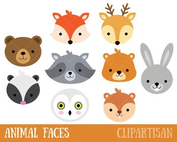 woodland animals clip art forest animal masks