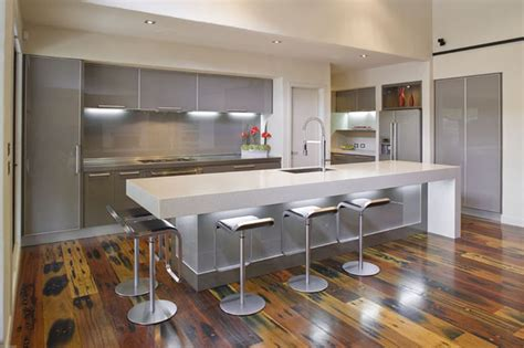 modern kitchen island stylish white and grey kitchen interiors in modern setting