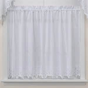 kaitlyn kitchen window curtain tier pair in white bed bath beyond