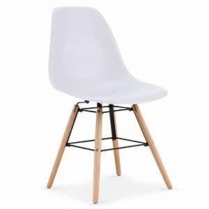 Lot 4 Chaises Scandinaves : chaises scandinaves elies blanc lot de 4 pas cher scandinave deco ~ Teatrodelosmanantiales.com Idées de Décoration