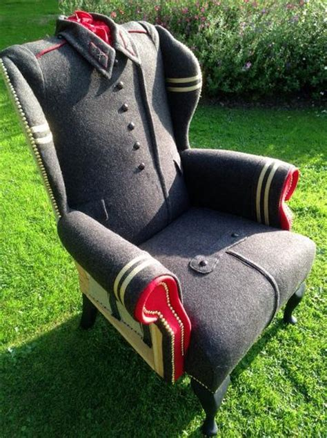 recycling wool coats  unique furniture  vintage style