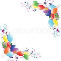 Floral Ballon Hintergrund Geburtstag Rahmen Design