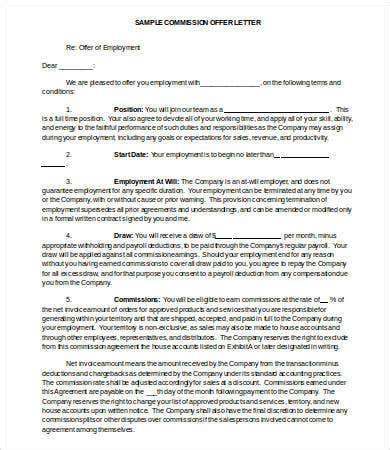 offer letter samples  sample  format