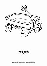 Wagon Colouring Pages Coloring Toy Print Activity Transport Activityvillage Little Toys Birthday Sheets Village Flyer Alphabet Explore Craft sketch template