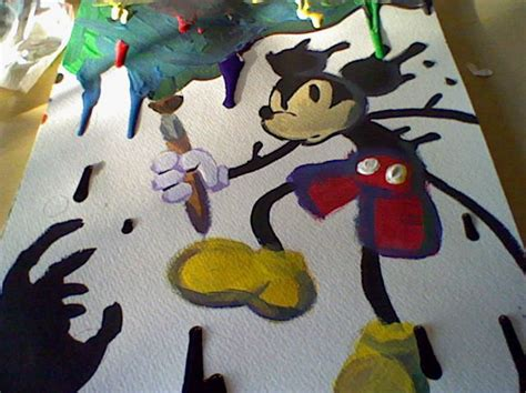 Epic Mickey Painted By Arxryl On Deviantart