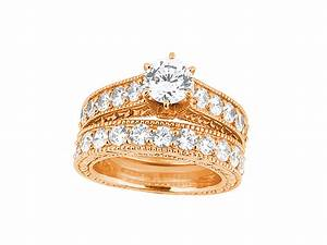 275ct round diamond milgrain engagement ring wedding band for 18k gold wedding ring set
