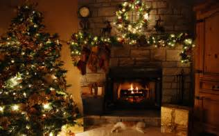 christmas tree and fireplace wallpapers pictures pics photos images desktop backgrounds