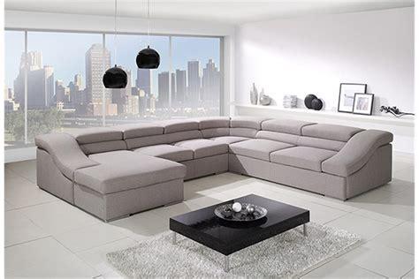 grand canape en u canap 233 panoramique convertible vi design