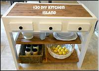 how to build a kitchen island $30 DIY Kitchen Island - Mom in Music City