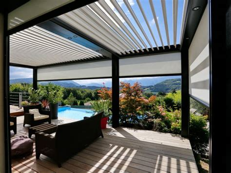 prix d une pergola biossun une pergola 224 lames orientables pour profiter de sa terrasse en toutes saisons maisonapart