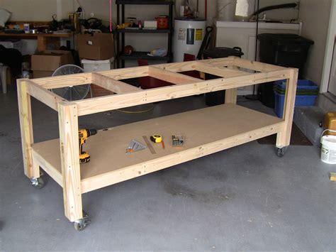 garage workbench plans build workbench woodguides