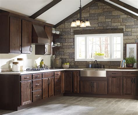 Rustic Kitchen Cabinets  Homecrest Cabinetry
