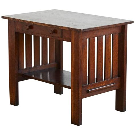 arts and crafts desk arts and crafts mission style oak library table for sale