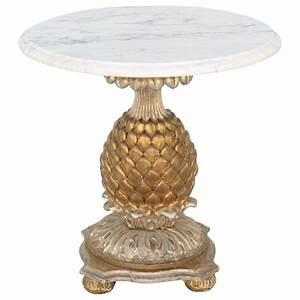 italian pineapple form accent table at 1stdibs With pineapple coffee table