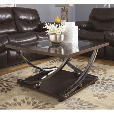 square coffee table with glass insert ashley rollins square coffee table with glass insert in