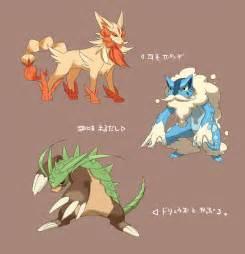 illustrations pokemonxystarter1stevolutionschespikeandcroaggle detailpage